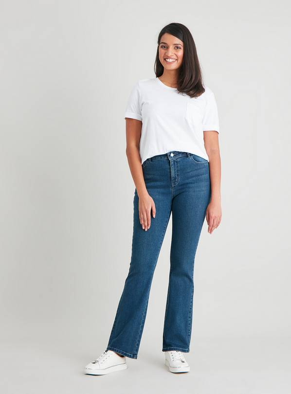 Midwash Denim Bootcut Jeans With Stretch - 24S