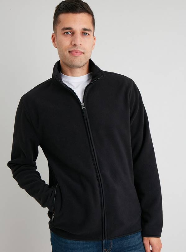 Black Zip Through Fleece - XL