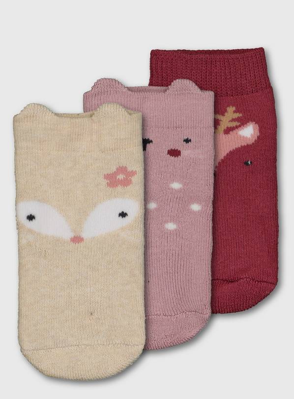 Woodland Animal Socks 3 Pack - 12-24 months