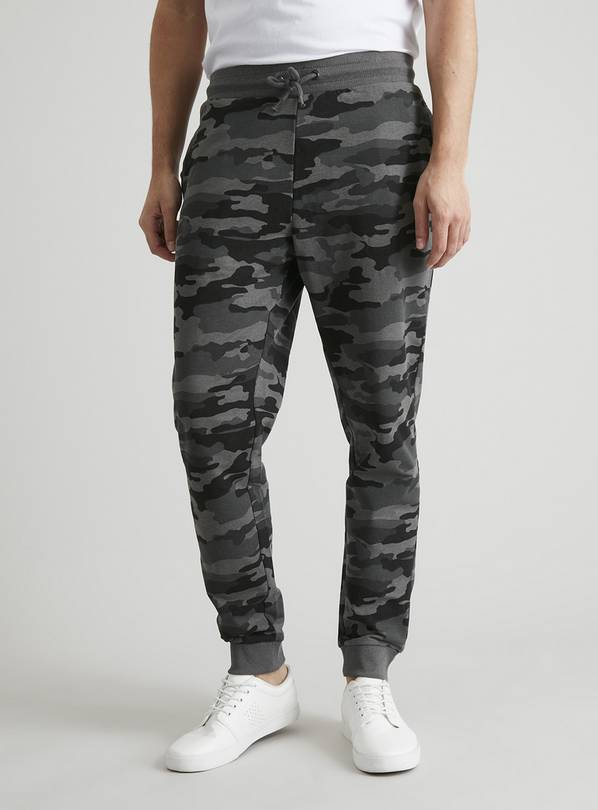 Camouflage Print Slim Fit Joggers - M