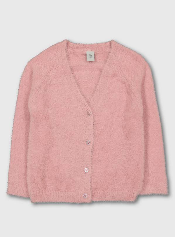 Pink Fluffy Cardigan - 1.5-2 years