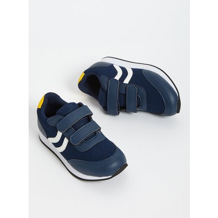 Navy Sporty Twin Strap Trainer - 8 Infant