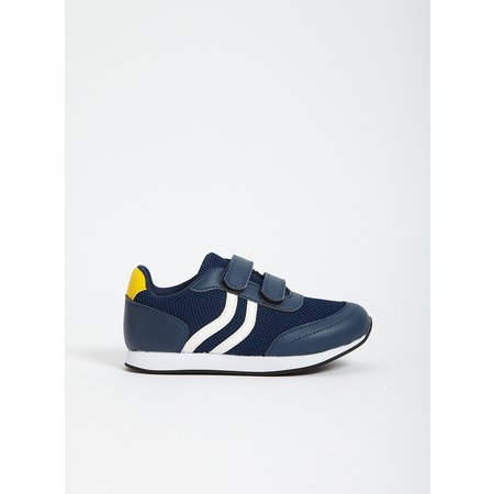 Navy Sporty Twin Strap Trainer - 11 Infant