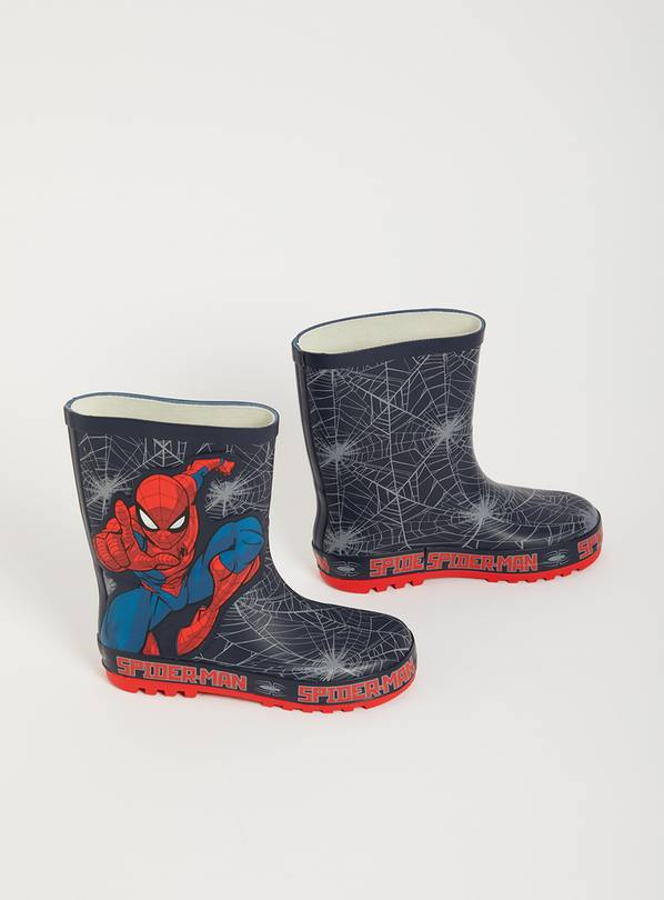 Marvel Spider-Man Navy Wellies - 10 Infant