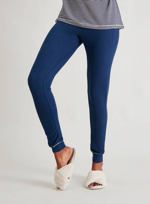 Navy Soft Knit Pyjama Leggings - 10