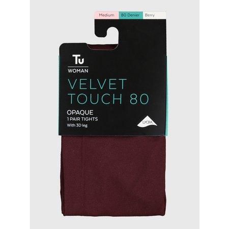 Berry Velvet Touch 80 Denier Tights - L