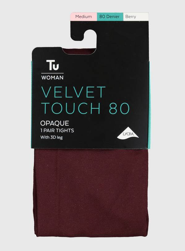 Berry Velvet Touch 80 Denier Tights - L