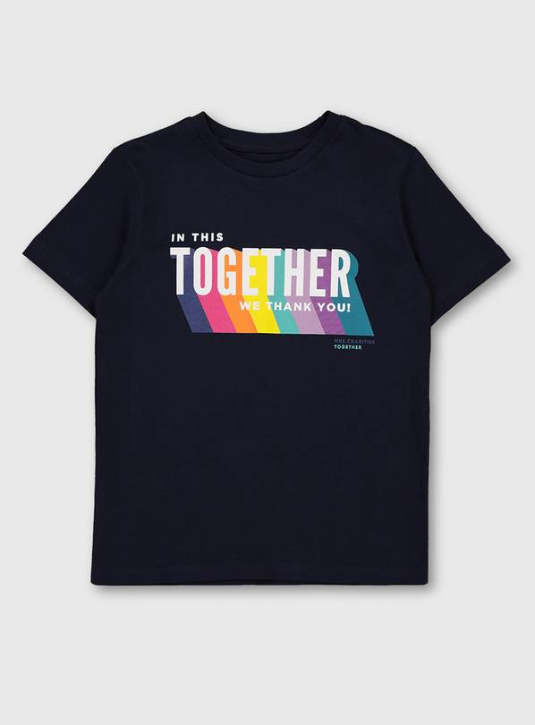 NHS Kids Unisex Navy 'Together' T-Shirt - 5-6
