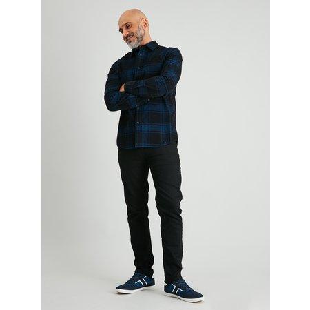 Blue & Black Check Regular Fit Corduroy Shirt - XXXL