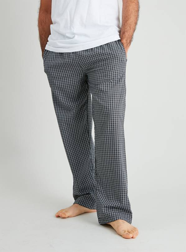 Gingham Check & Black Loungewear Bottoms 2 Pack - XXL