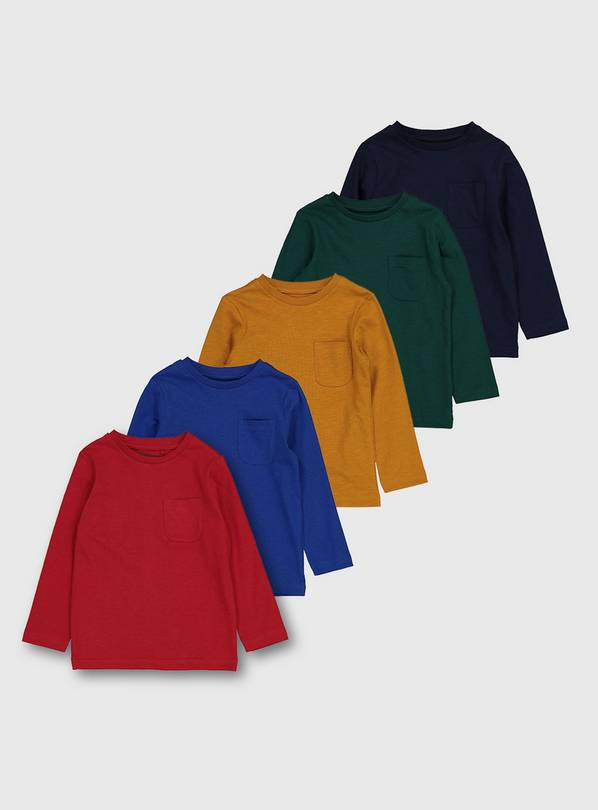 Bright Long Sleeve T-Shirts 5 Pack - 1.5-2 years