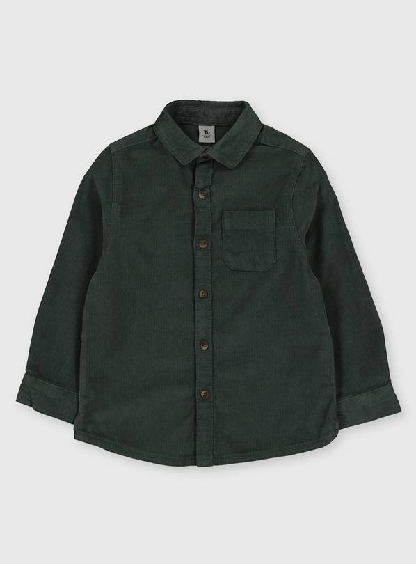 Sage Green Corduroy Shirt - 5-6 years