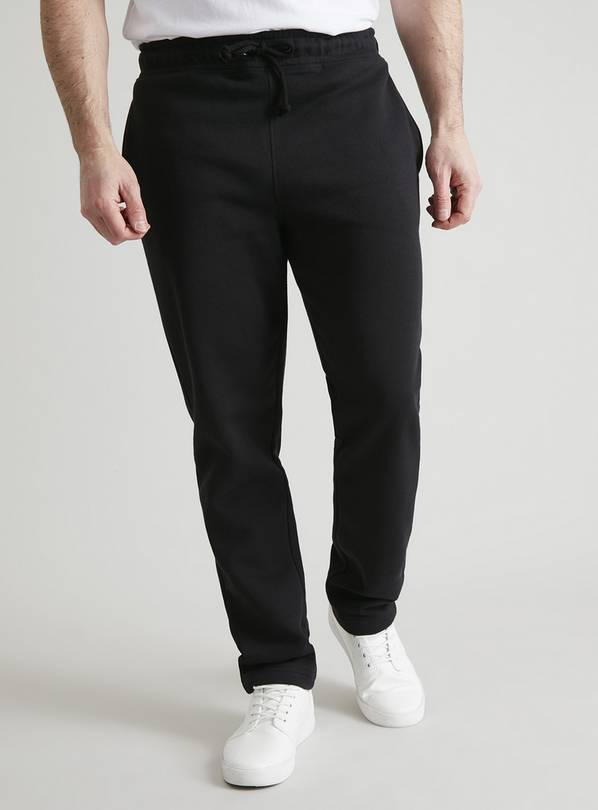 Black Regular Fit Cotton-Rich Joggers - M