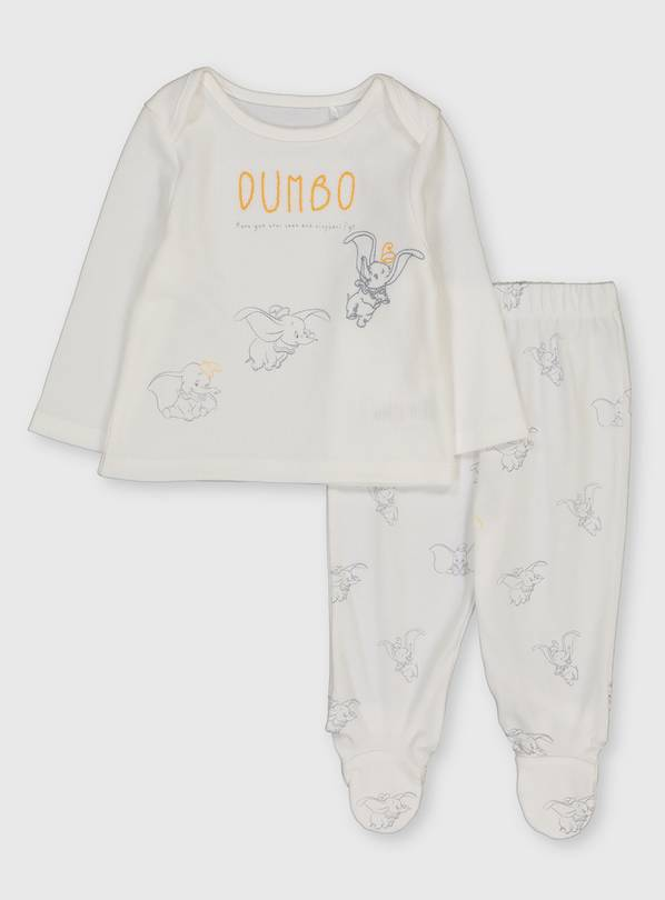 Disney Dumbo White Pyjamas - 3-6 months