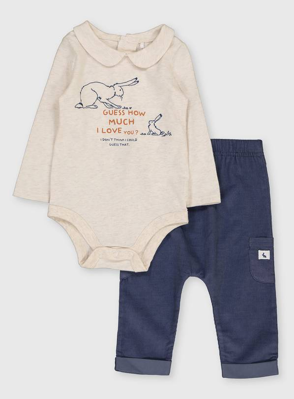 Guess How Much I Love You Bodysuit & Trousers - 6-9 months