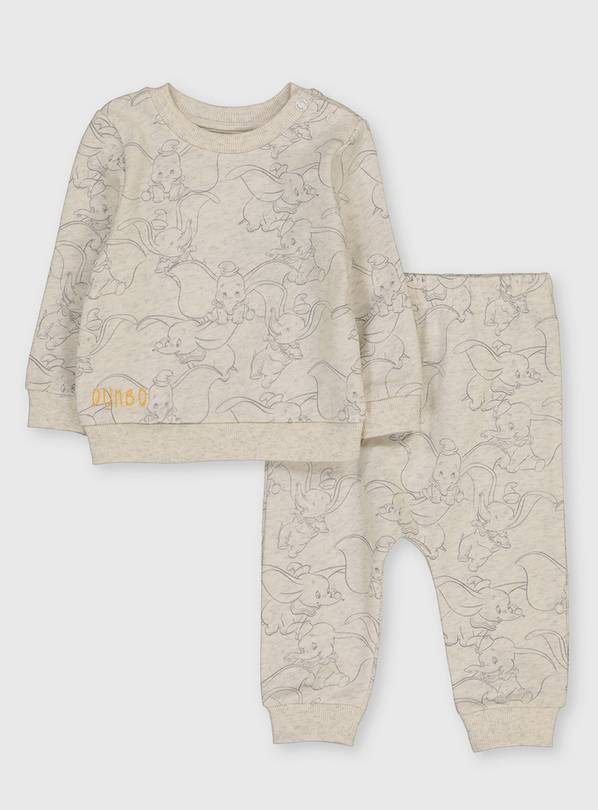 Disney Dumbo Oatmeal Print Top & Joggers - Up to 3 mths