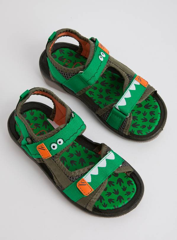 Green Crocodile Adventure Sandals - 8 Infant