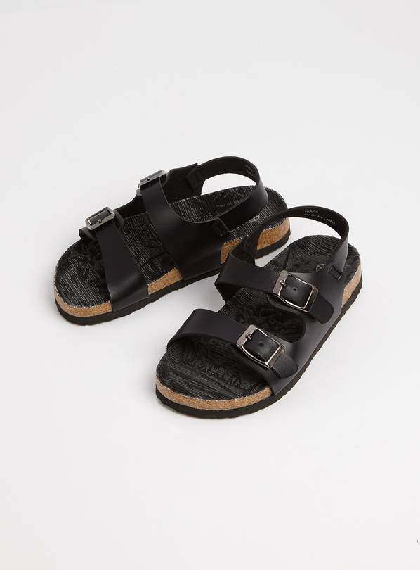 J C DEES Black Strap Sandals - 13 Infant