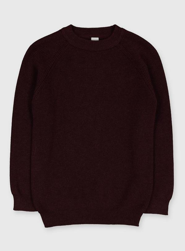 Purple Ribbed Knit Jumper - 13 years