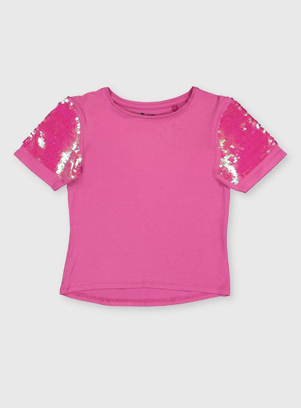 Pink Sequin Sleeve Party Top - 5 years
