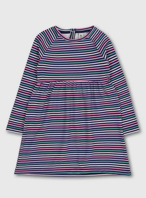 Pink Stripe Dress - 1.5-2 years