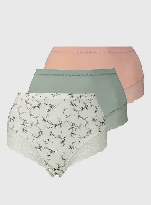 Lace Leg Full Knickers 3 Pack - 18