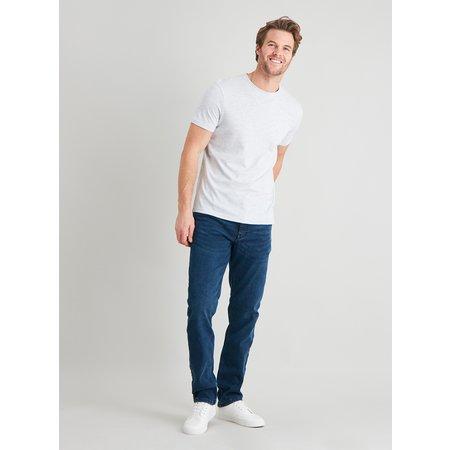 Grey Marl Crew Neck T-Shirt - S
