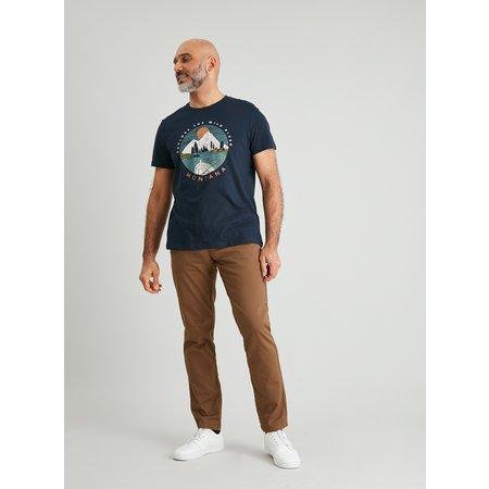 Navy Mountain Graphic T-Shirt - XXL