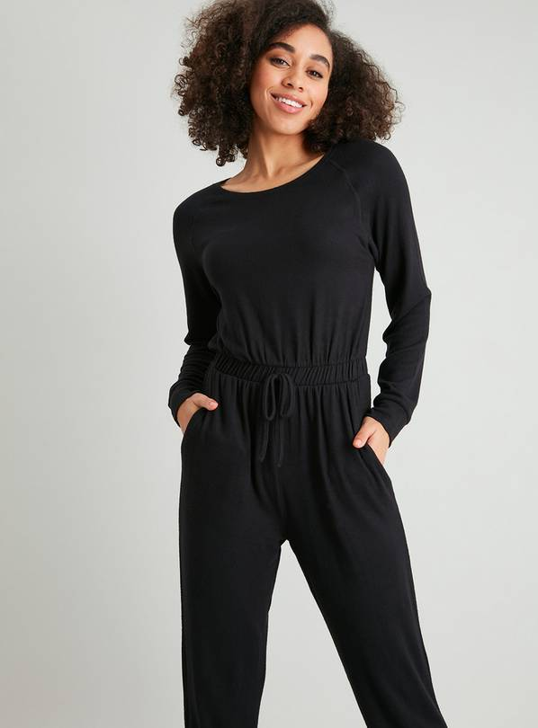 Black Loungewear Jumpsuit - 10