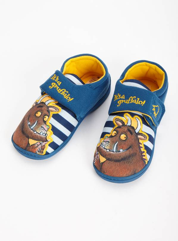 The Gruffalo Navy Stripe Cupsole Slippers - 4-5 Infant
