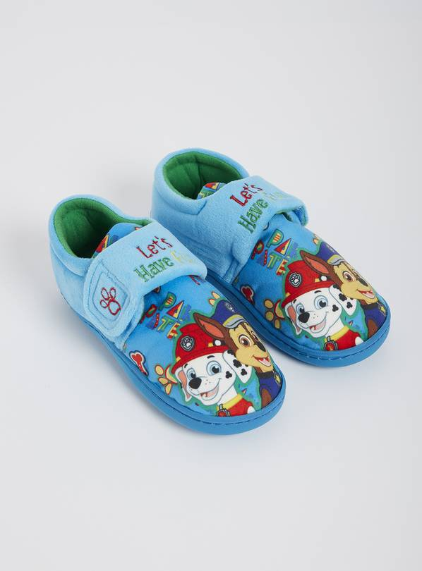 Paw Patrol Blue Slippers - 8-9 Infant