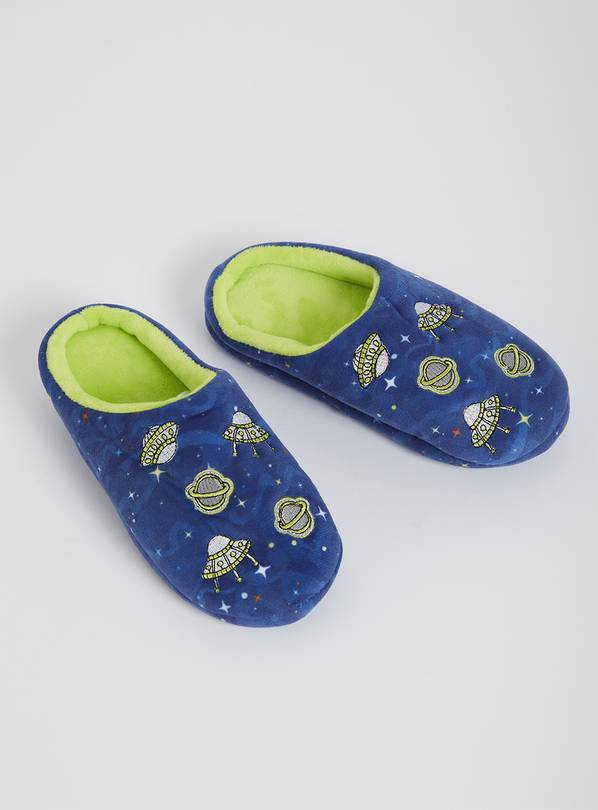 Blue Space Mule Slippers - 10-11 Infant
