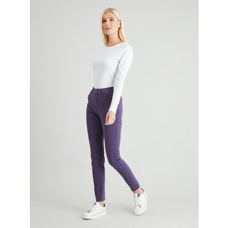 Purple Twill Skinny Jeans With Stretch - 8S
