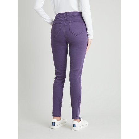 Purple Twill Skinny Jeans With Stretch - 8R