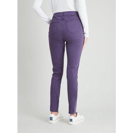 Purple Twill Skinny Jeans With Stretch - 24R