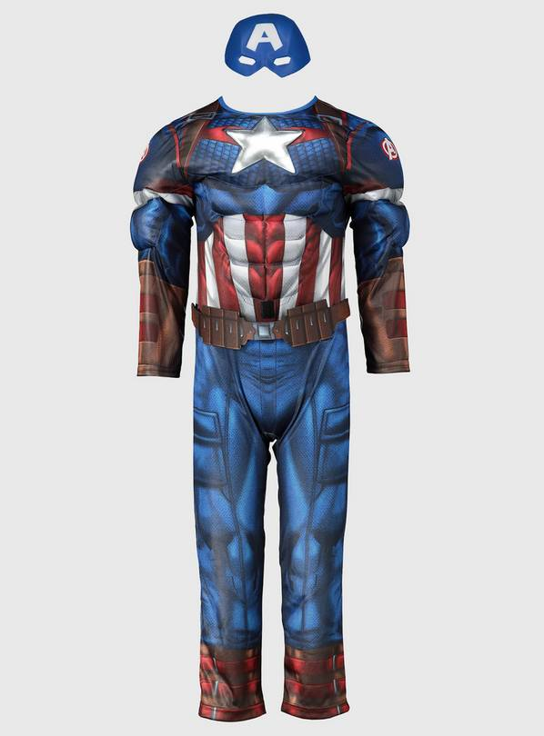 Marvel Captain America Blue Costume - 5-6 years