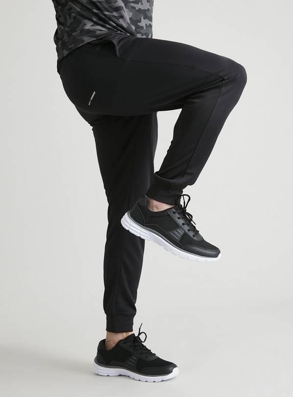 Active Black Moisture Wicking Joggers - XXL