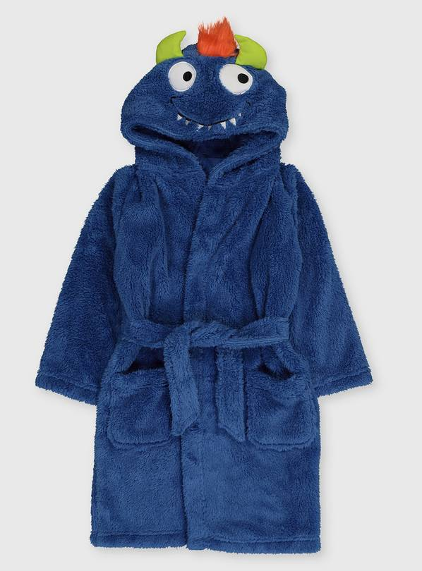 Blue Monster Dressing Gown - 1.5-2 years