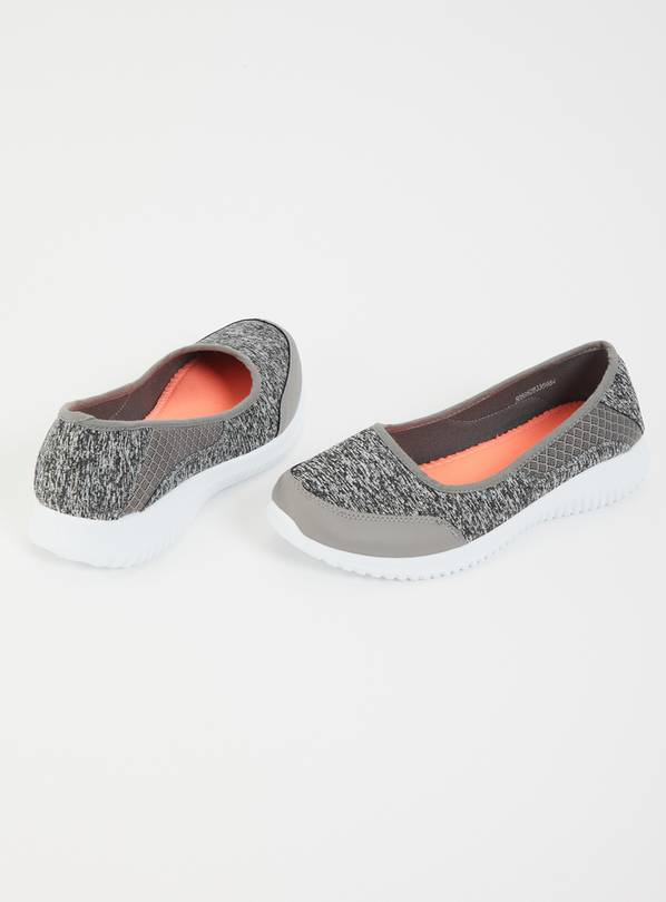 Sole Comfort Grey Ballerina Pumps - 4