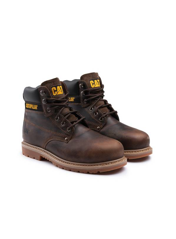 CATERPILLAR Brown Powerplant GYW Safety Boot - 8