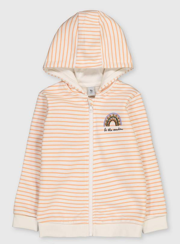 White Striped 'Be The Sunshine' Hoodie - 1.5-2 years