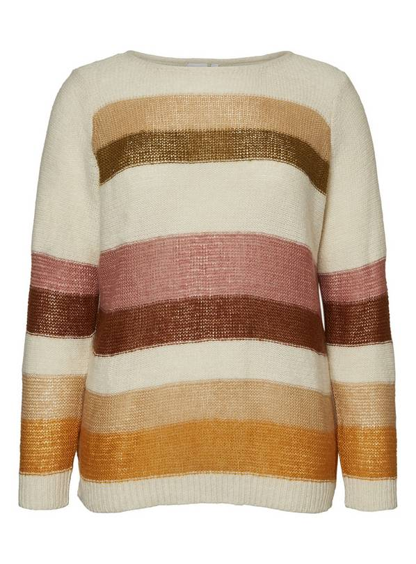 Stripy Knitted Jumper With Wool - 18-20