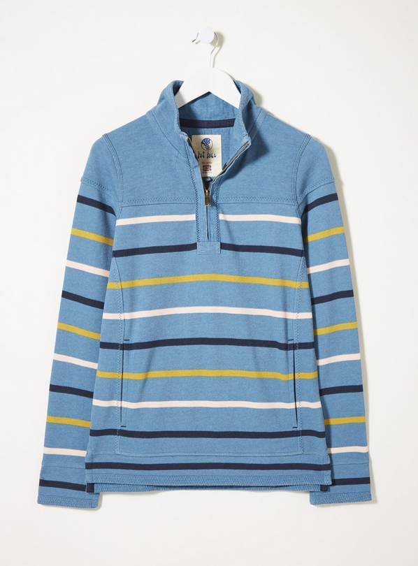 FATFACE Cornflower Airlie Breton Multi Stripe Sweat - 6
