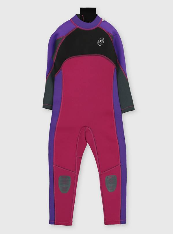 Pink Long Sleeve Wetsuit - 3-4 years