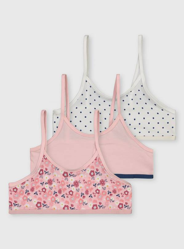 Pink & White Crop Tops 3 Pack - 5-6 years