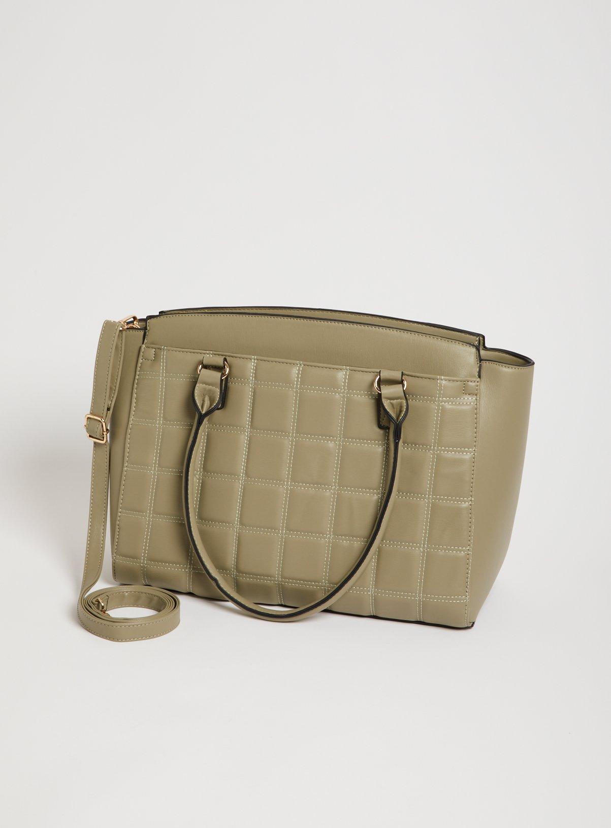 Khaki Padded Handheld Laptop Bag - One Size
