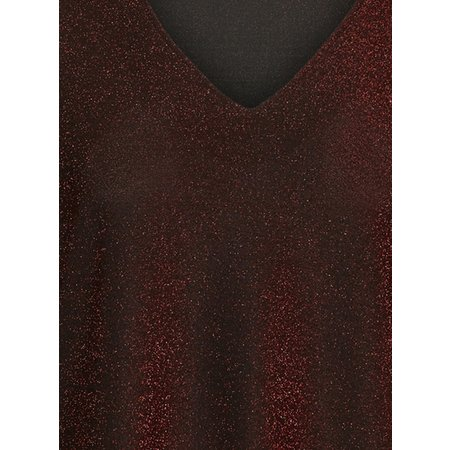 Red Glittery Blouse - 14-16