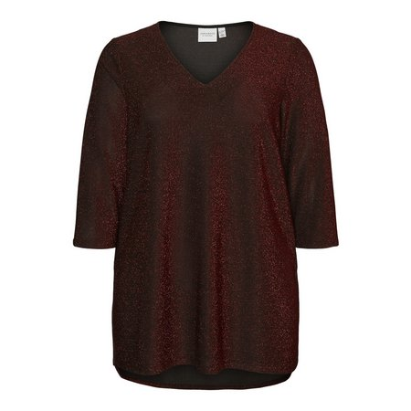 Red Glittery Blouse - 18-20