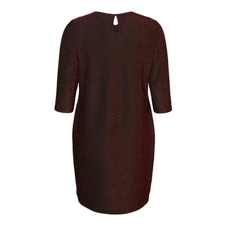 Red Glittery 3/4 Sleeve Dress - 24-26