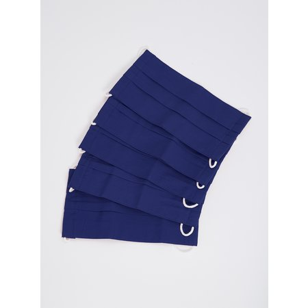 Kids Blue Non Medical Face Coverings 5 Pack - One Size